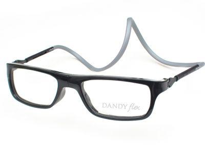 correa gris - frente negro brillo