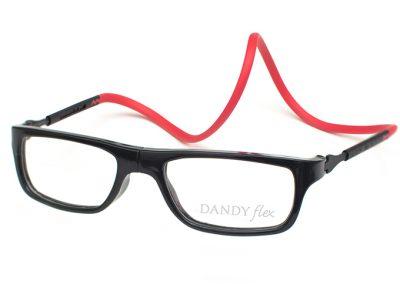 correa roja - frente negro brillo